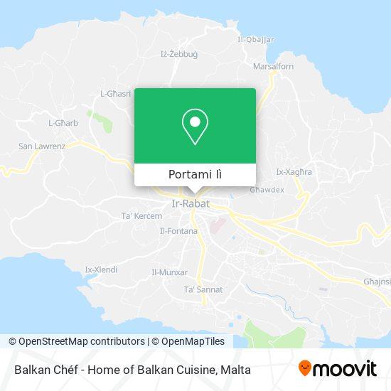 Mappa Balkan Chéf - Home of Balkan Cuisine