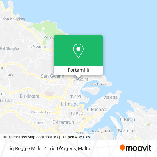 Mappa Triq Reggie Miller / Triq D'Argens