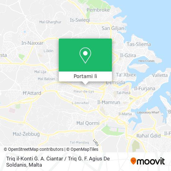 Mappa Triq il-Konti Ġ. A. Ċiantar / Triq Ġ. F. Agius De Soldanis