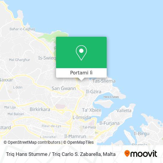 Mappa Triq Hans Stumme / Triq Carlo S. Zabarella