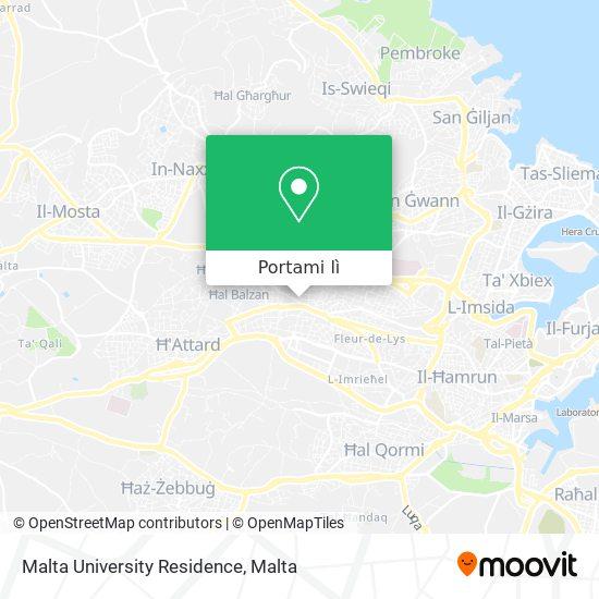 Mappa Malta University Residence
