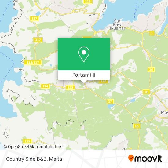 Mappa Country Side B&B