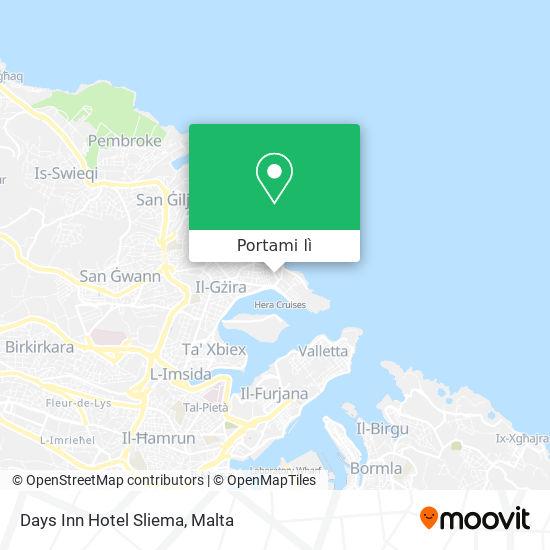 Mappa Days Inn Hotel Sliema