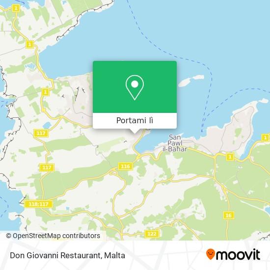 Mappa Don Giovanni Restaurant