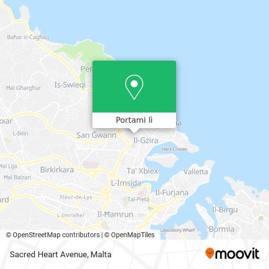 Mappa Sacred Heart Avenue