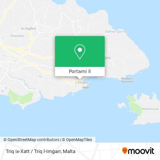 Mappa Triq ix-Xatt / Triq l-Imġarr