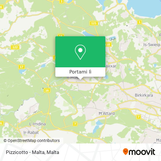 Mappa Pizzicotto - Malta