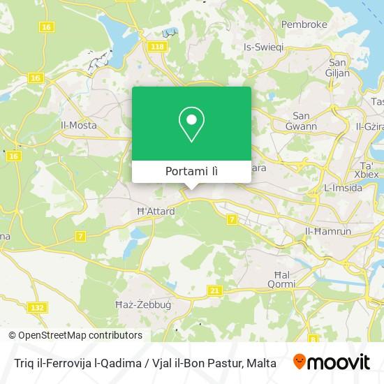 Mappa Triq il-Ferrovija l-Qadima / Vjal il-Bon Pastur