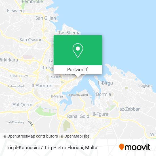 Mappa Triq il-Kapuċċini / Triq Pietro Floriani