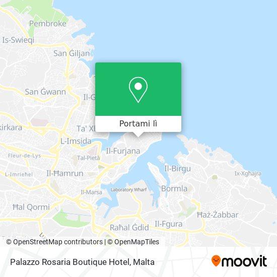 Mappa Palazzo Rosaria Boutique Hotel