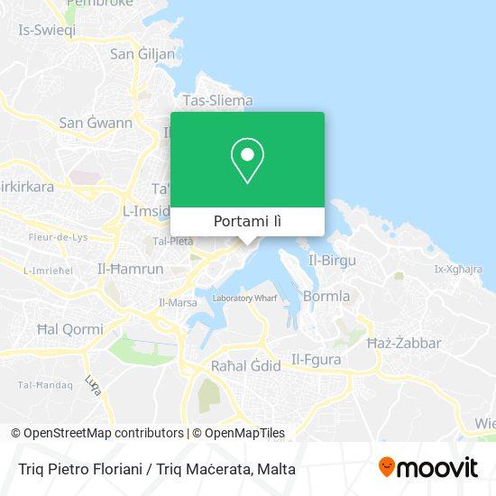 Mappa Triq Pietro Floriani / Triq Maċerata