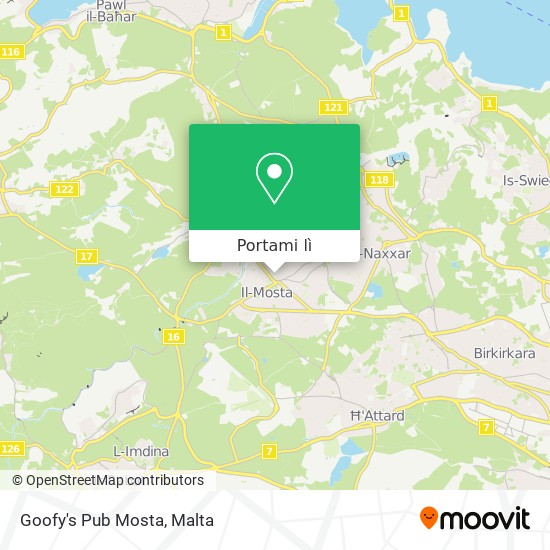 Mappa Goofy's Pub Mosta