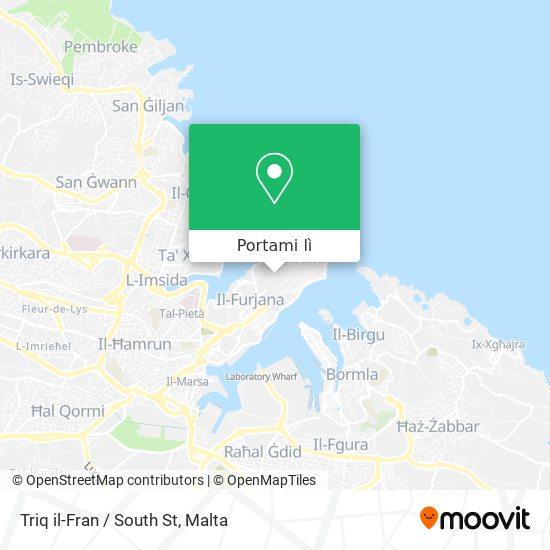 Mappa Triq il-Fran / South St