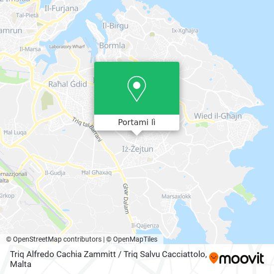 Mappa Triq Alfredo Cachia Zammitt / Triq Salvu Cacciattolo