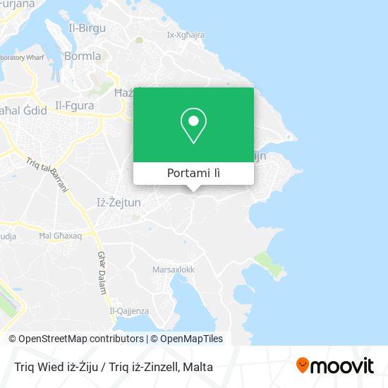 Mappa Triq Wied iż-Żiju / Triq iż-Zinzell