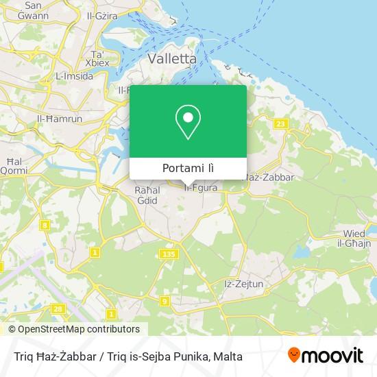 Mappa Triq Ħaż-Żabbar / Triq is-Sejba Punika