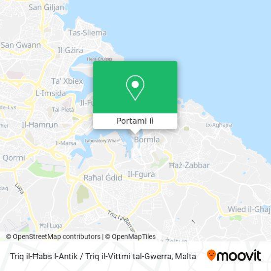 Mappa Triq il-Ħabs l-Antik / Triq il-Vittmi tal-Gwerra