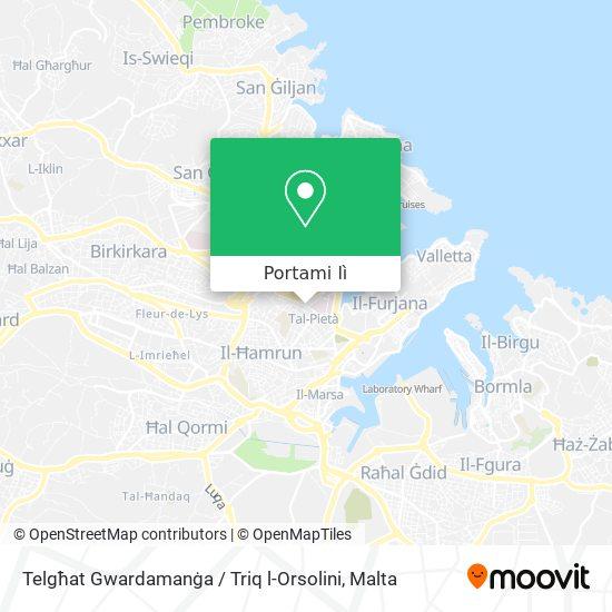 Mappa Telgħat Gwardamanġa / Triq l-Orsolini