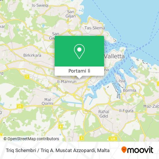 Mappa Triq Schembri / Triq A. Musċat Azzopardi