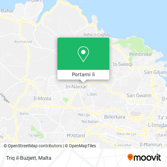 Mappa Triq il-Buzjett