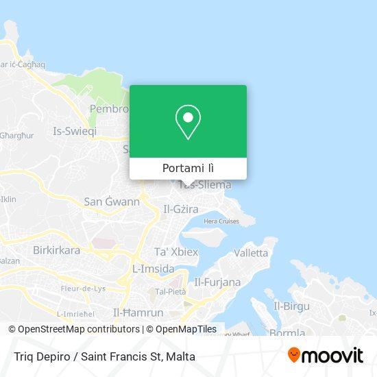 Mappa Triq Depiro / Saint Francis St