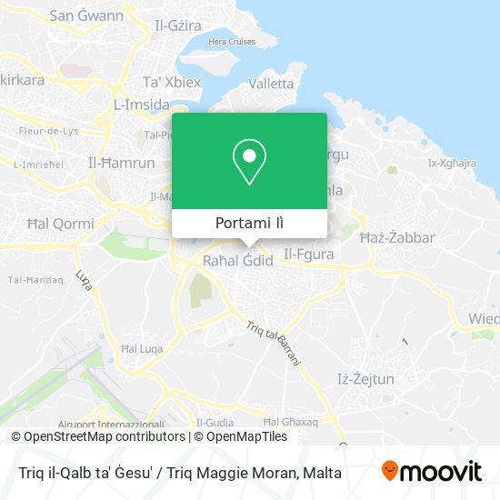 Mappa Triq il-Qalb ta' Ġesu' / Triq Maggie Moran
