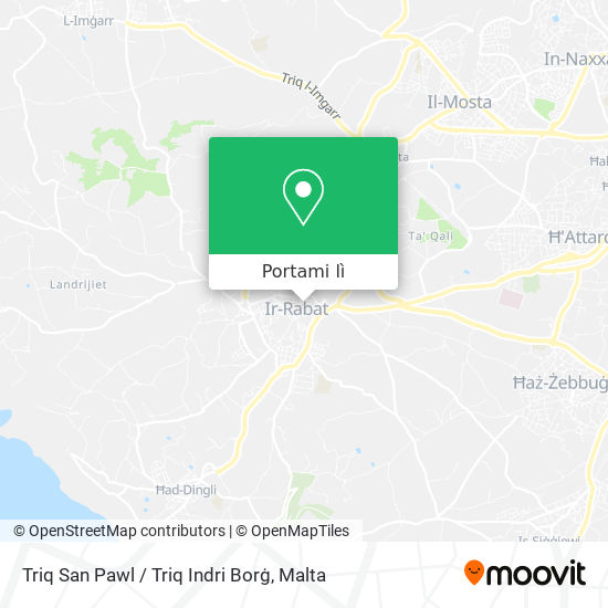 Mappa Triq San Pawl / Triq Indri Borġ