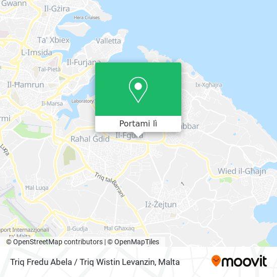 Mappa Triq Fredu Abela / Triq Wistin Levanzin