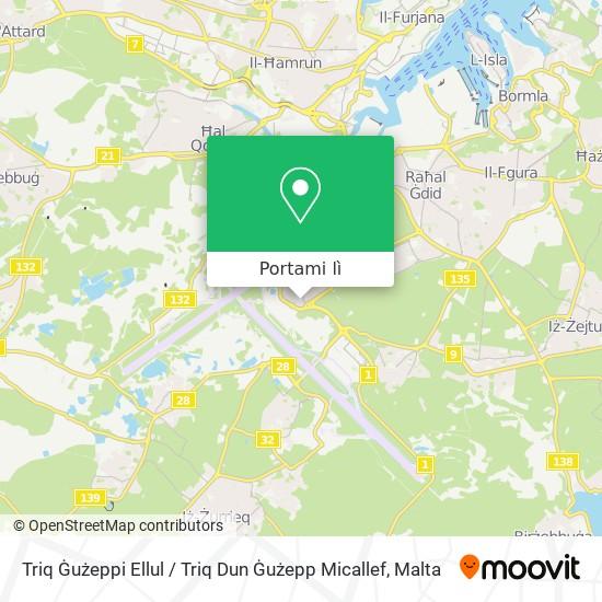 Mappa Triq Ġużeppi Ellul / Triq Dun Ġużepp Micallef