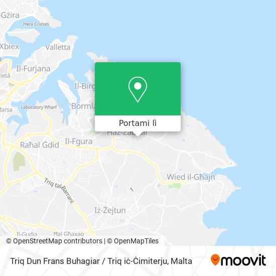 Mappa Triq Dun Frans Buhagiar / Triq iċ-Ċimiterju