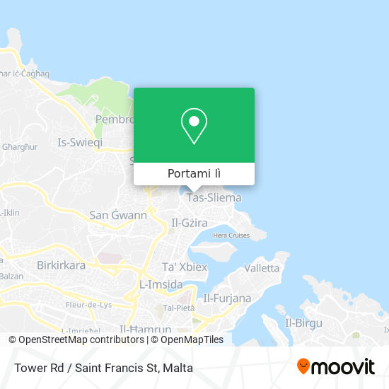 Mappa Tower Rd / Saint Francis St