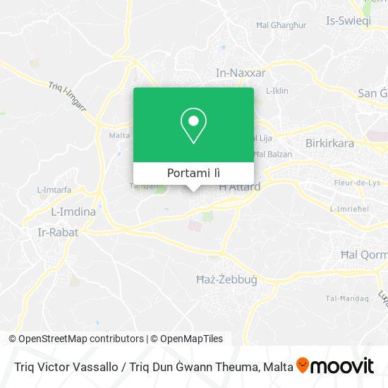Mappa Triq Victor Vassallo / Triq Dun Ġwann Theuma