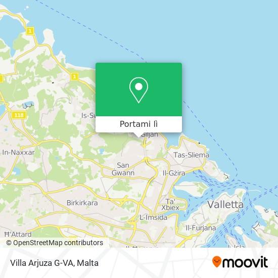 Mappa Villa Arjuza G-VA