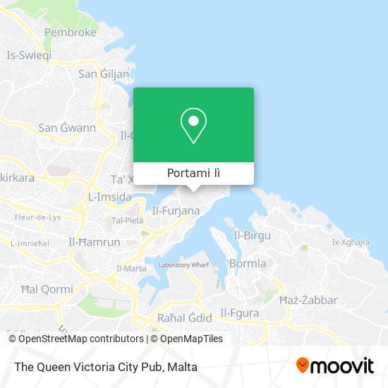 Mappa The Queen Victoria City Pub
