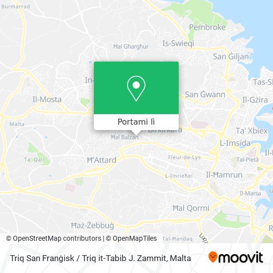 Mappa Triq San Franġisk / Triq it-Tabib J. Zammit
