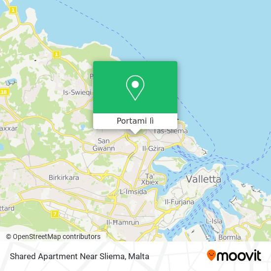 Mappa Shared Apartment Near Sliema