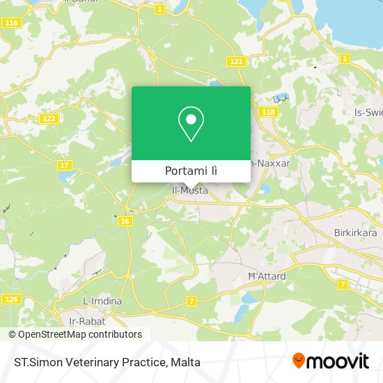 Mappa ST.Simon Veterinary Practice