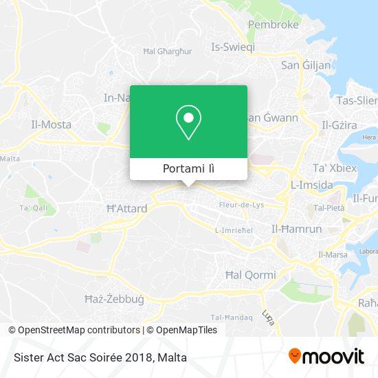 Mappa Sister Act Sac Soirée 2018