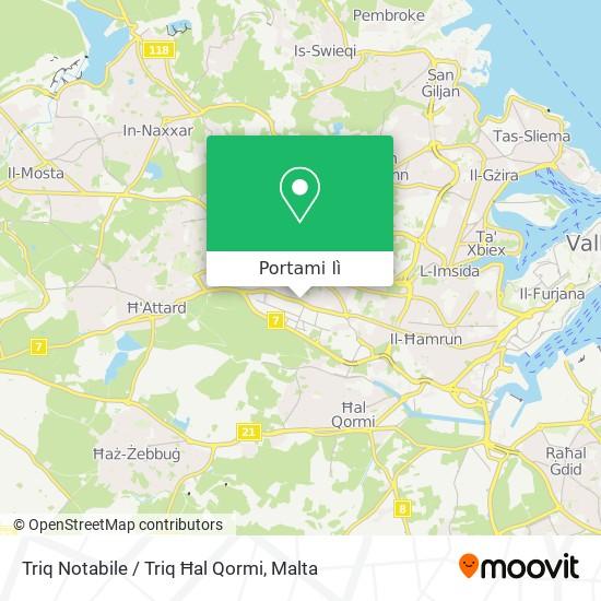Mappa Triq Notabile / Triq Ħal Qormi