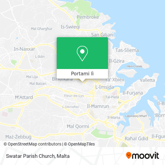 Mappa Swatar Parish Church
