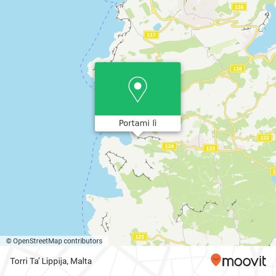 Mappa Torri Ta' Lippija