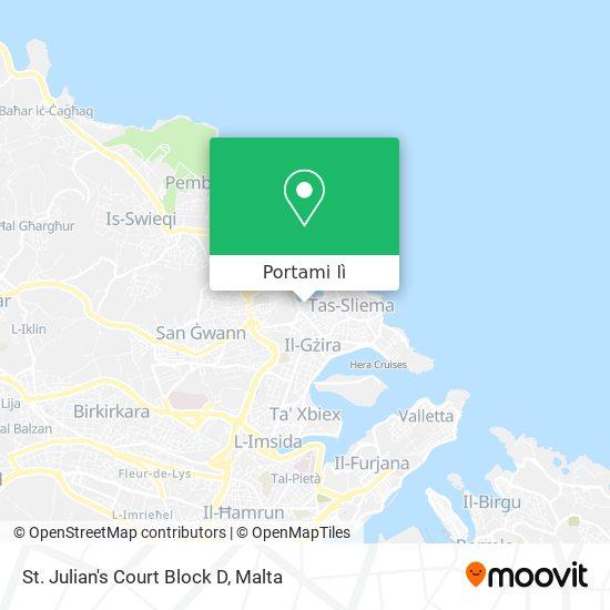 Mappa St. Julian's Court Block D