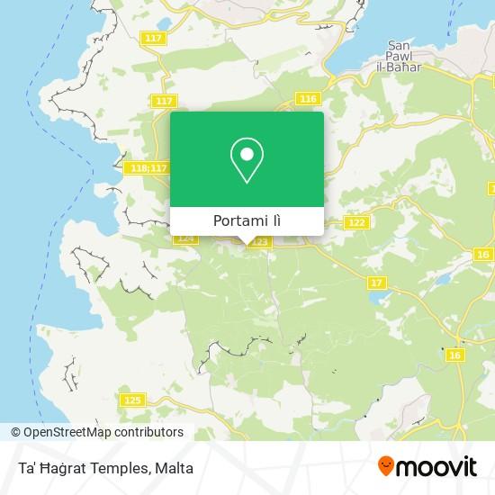 Mappa Ta' Ħaġrat Temples