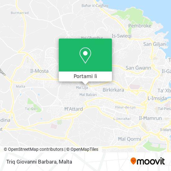 Mappa Triq Giovanni Barbara