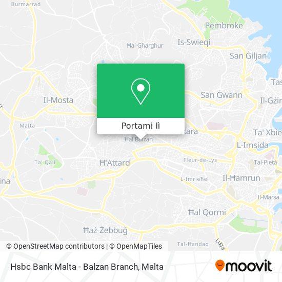 Mappa Hsbc Bank Malta - Balzan Branch
