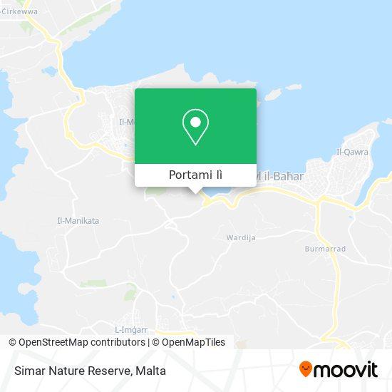 Mappa Simar Nature Reserve