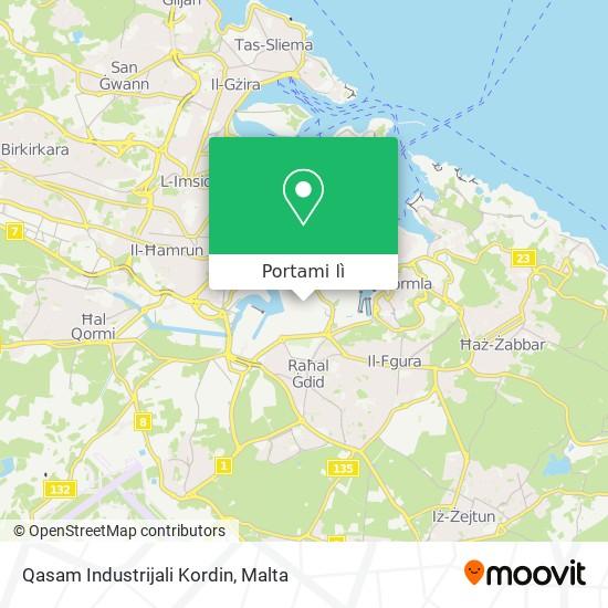 Mappa Qasam Industrijali Kordin
