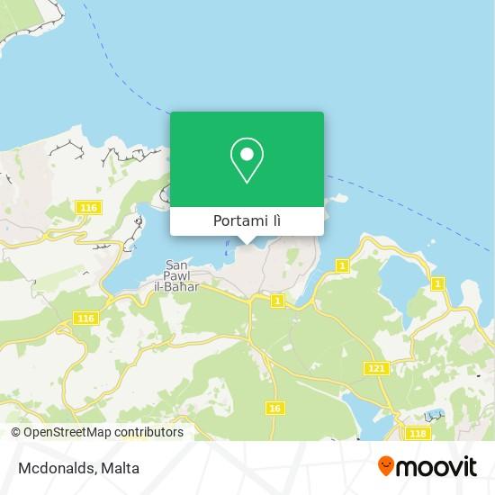 Mappa Mcdonalds