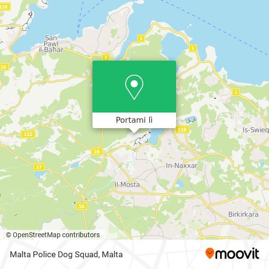 Mappa Malta Police Dog Squad