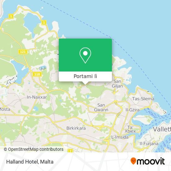 Mappa Halland Hotel
